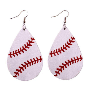 Baseball/Softball Leather Earrings