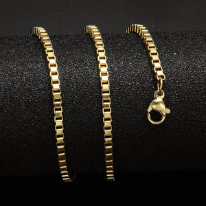 24inches Gold Silver Color Stainless Steel Cuban Snake/Box/Hanging/Curb/Flat/Twist Chains