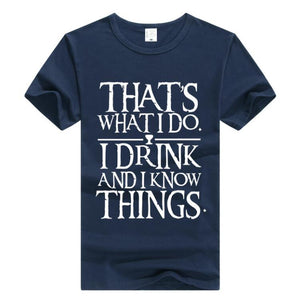 """I Drink And I Know Things"" Short Sleeve T-Shirt"