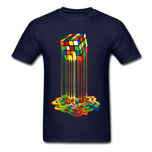 Melting Cube T-Shirts - Rainbow Abstraction Sheldon Cooper