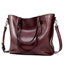 Leather Tote Bag w Shoulder Strap