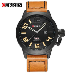 Curren Leather Men's Wristwatch