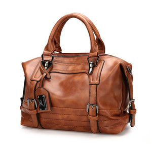 European Oiled Leather Handbag
