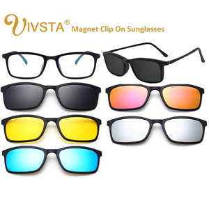 IVSTA Ultra-light Polarized Magnetic Sunglasses  TR90 (5 in 1)