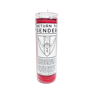Return To Sender 7-Day Meditation Candle - PREORDER - Ships by 12/17