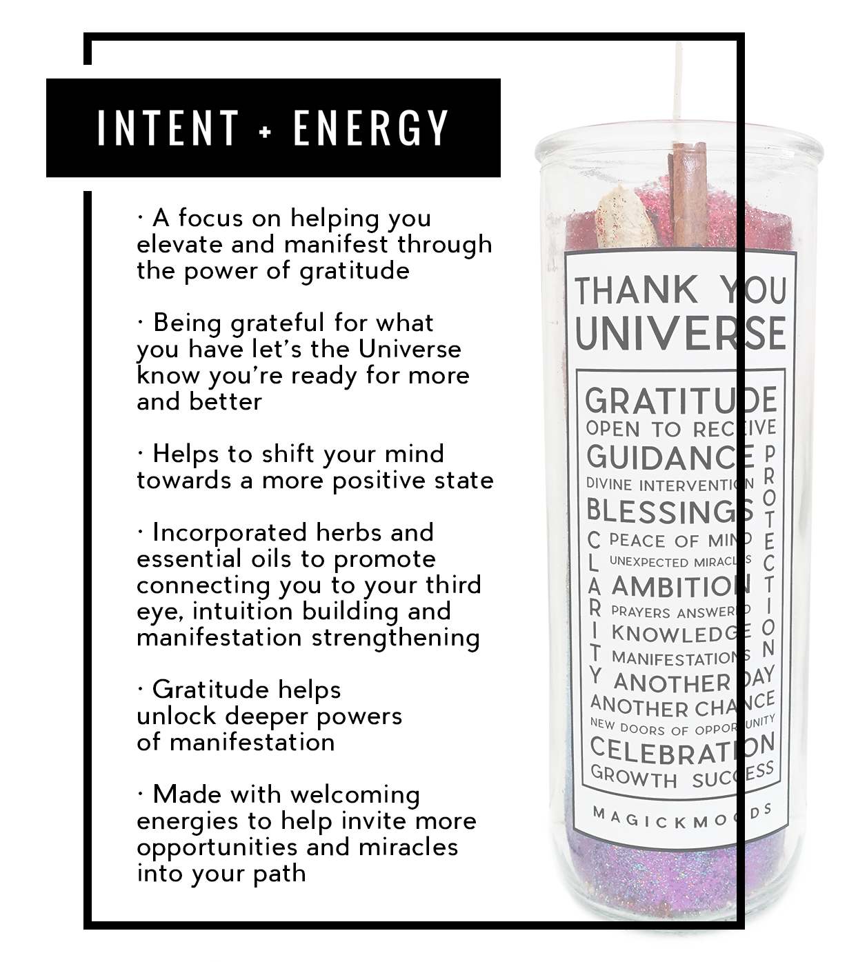 Thank You Universe 7-Day Meditation Candle - PREORDER - Ships by 10/16