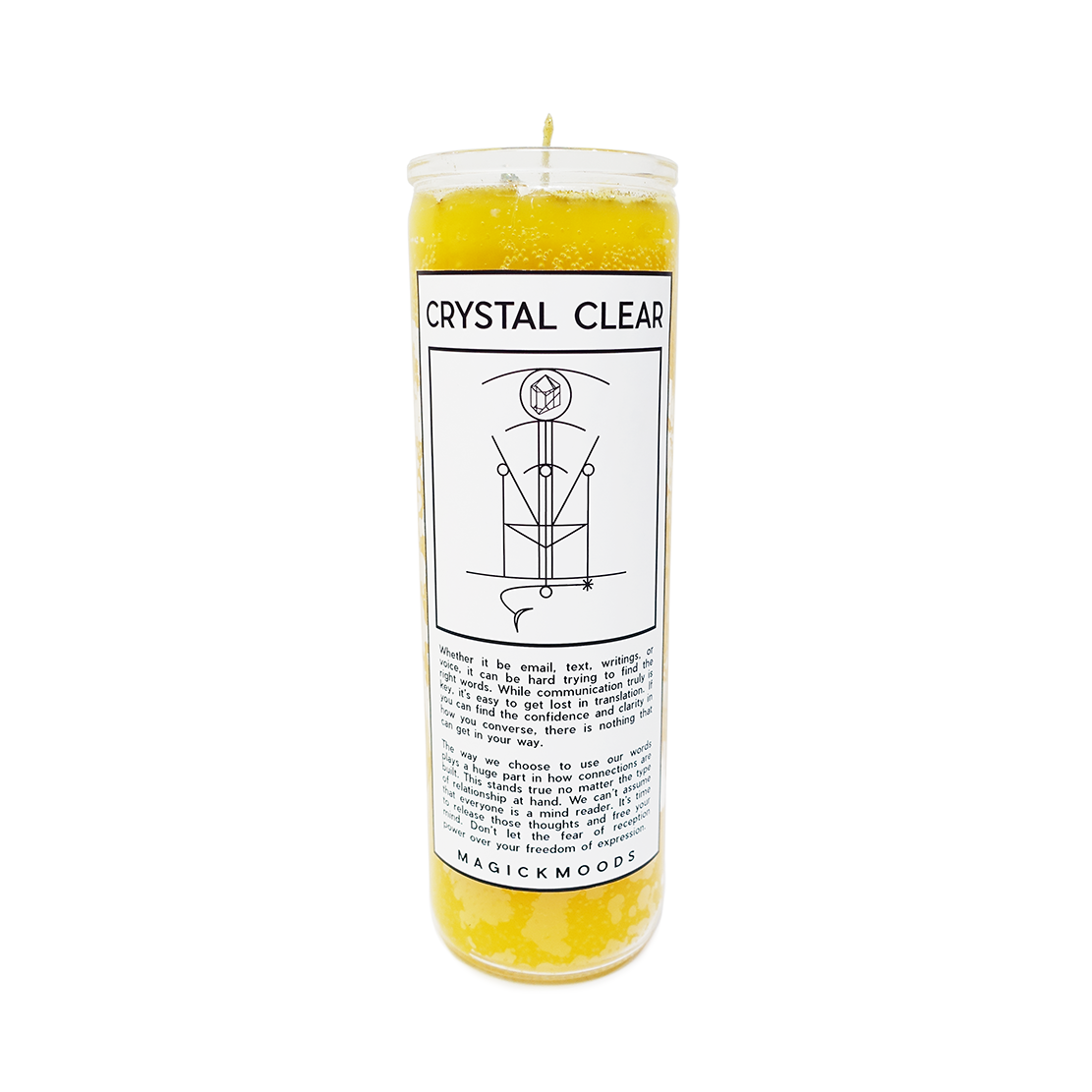 Crystal Clear 7-Day Meditation Candle - PREORDER- Ships by 8/14