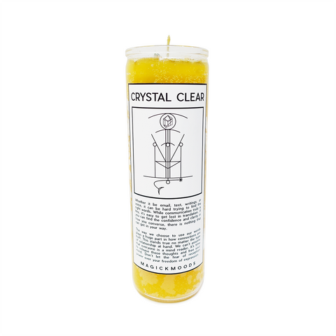 Crystal Clear 7-Day Meditation Candle - PREORDER- Ships by 12/17