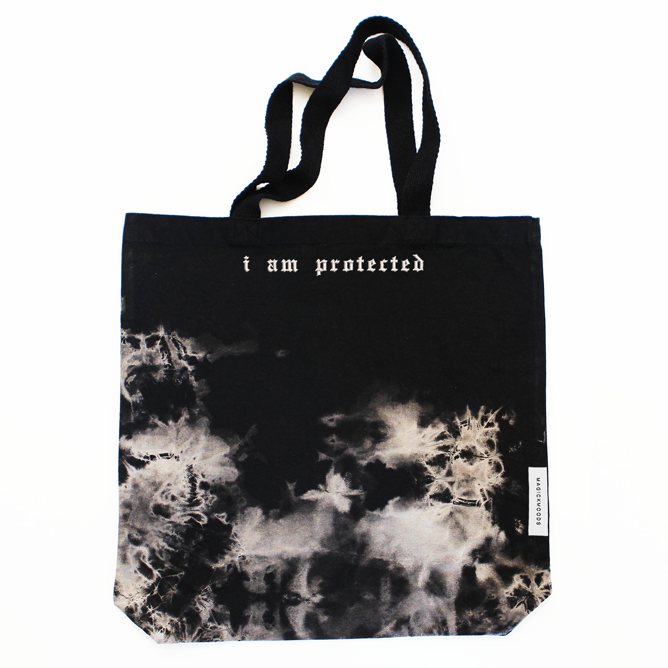 I Am Protected Bleach-Dye Canvas Tote Bag