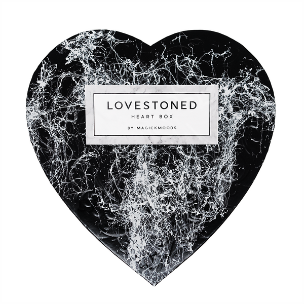 Lovestoned Crystal Heart Box *Hand-Marbled Special Edition*