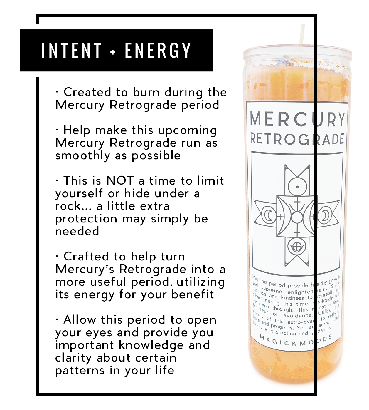 Mercury Retrograde Protection 7-Day Meditation Candle - PREORDER - Ships by 12/15