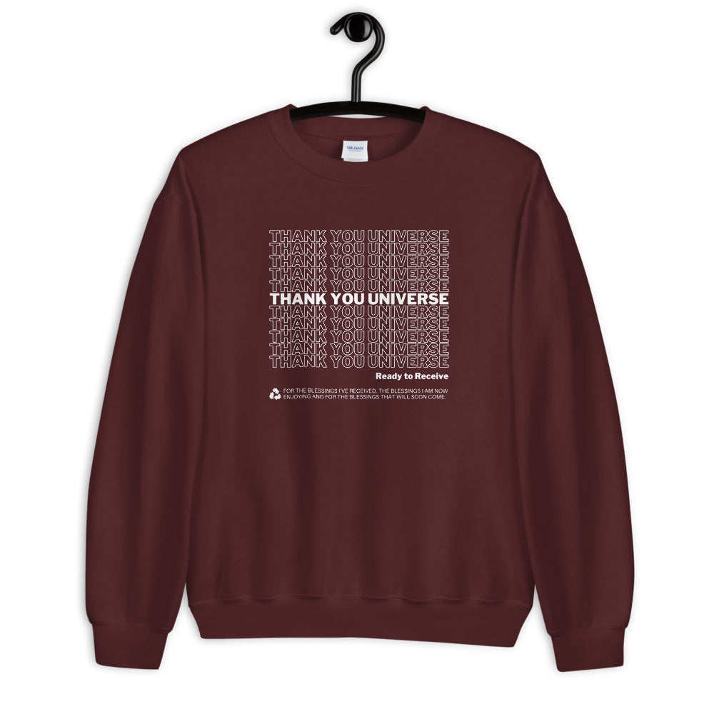 Thank You Universe Sweatshirt (Maroon) *Ships separately