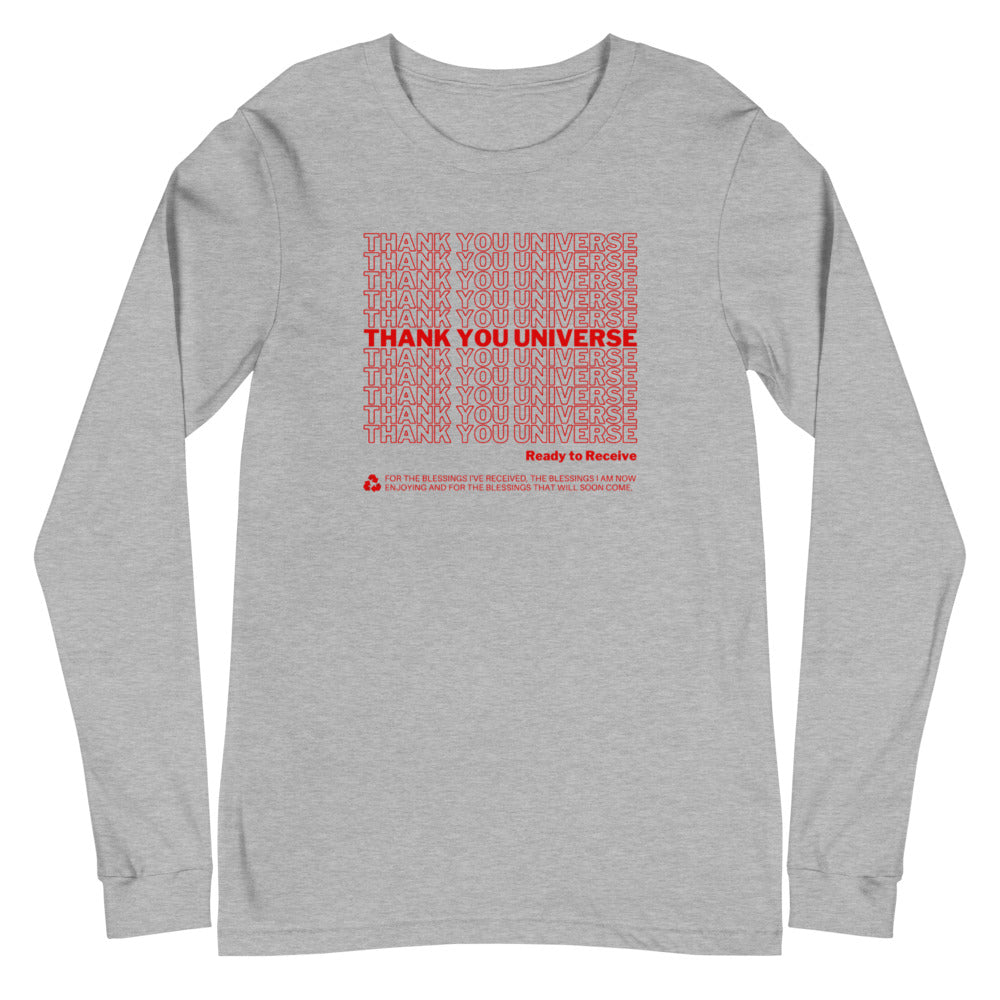 Thank You Universe Long Sleeve (Heather Grey) *Ships separately