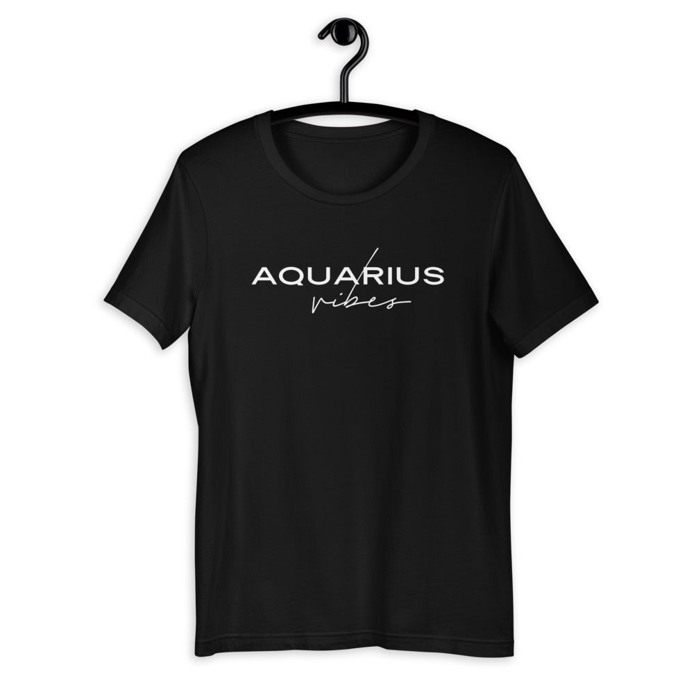 Aquarius Vibes Zodiac T-Shirt (Black) *Ships separately
