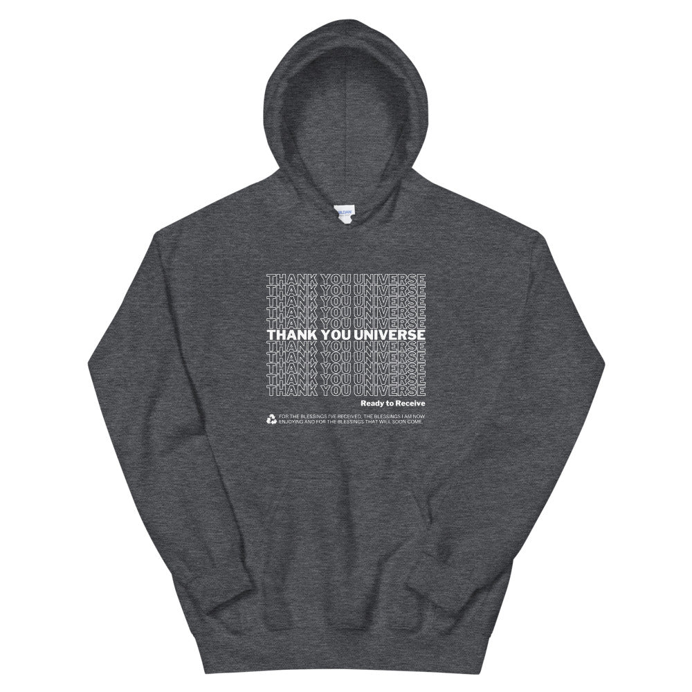 Thank You Universe Hoodie (Dark Heather Grey) *Ships separately