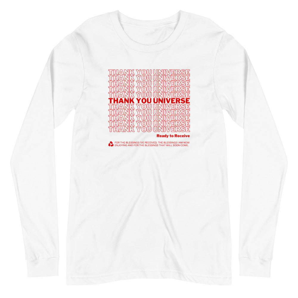 Thank You Universe Long Sleeve (White) *Ships separately