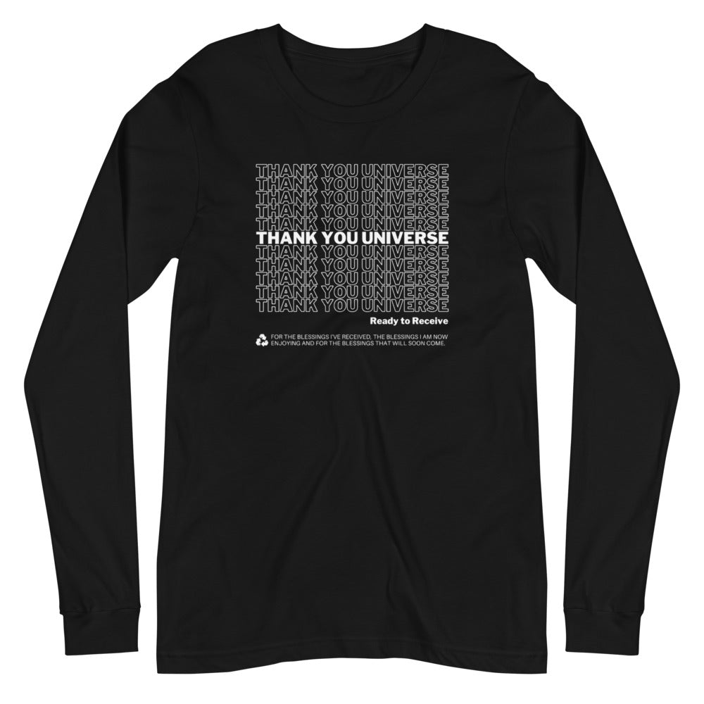 Thank You Universe Long Sleeve (Black) *Ships separately