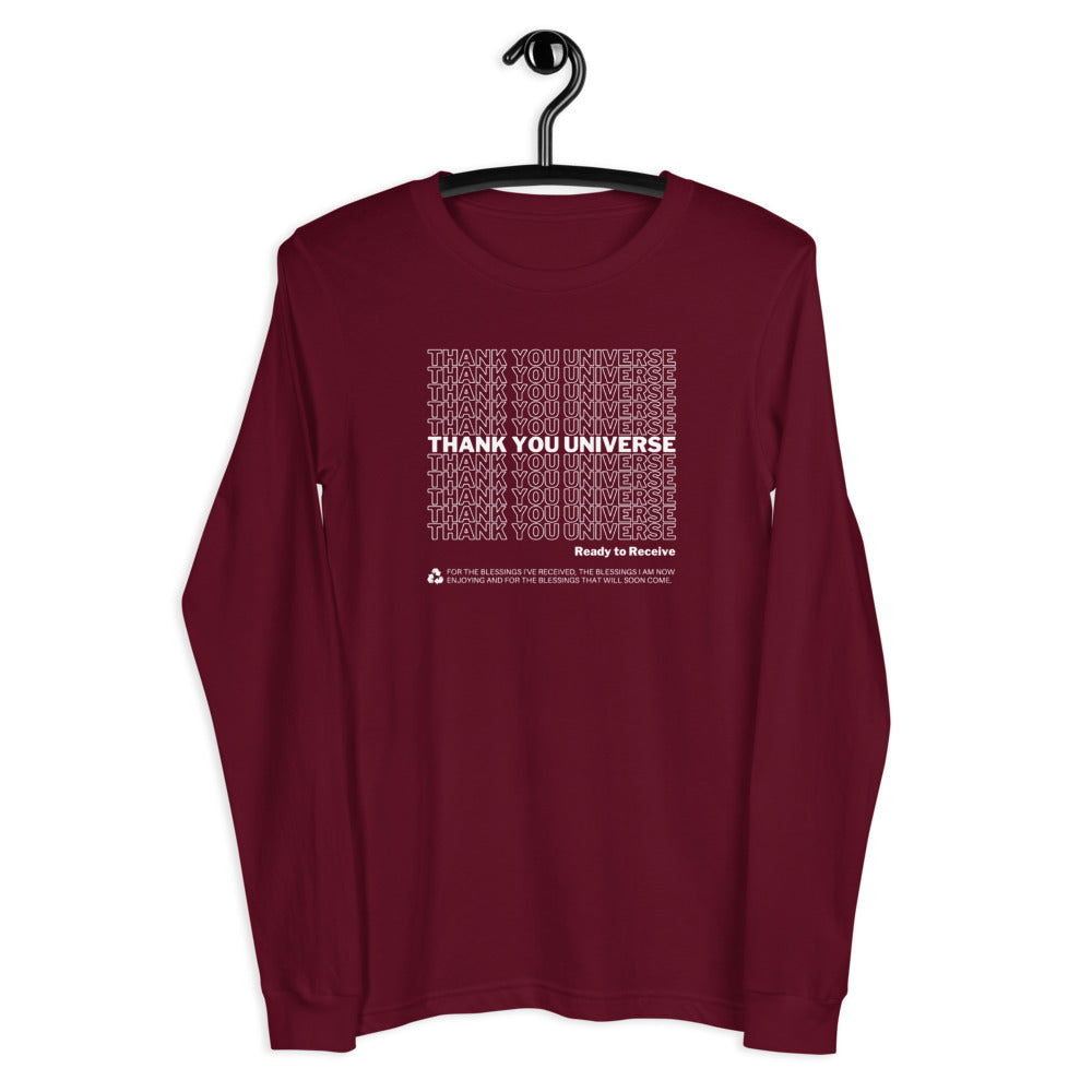 Thank You Universe Long Sleeve (Maroon) *Ships separately