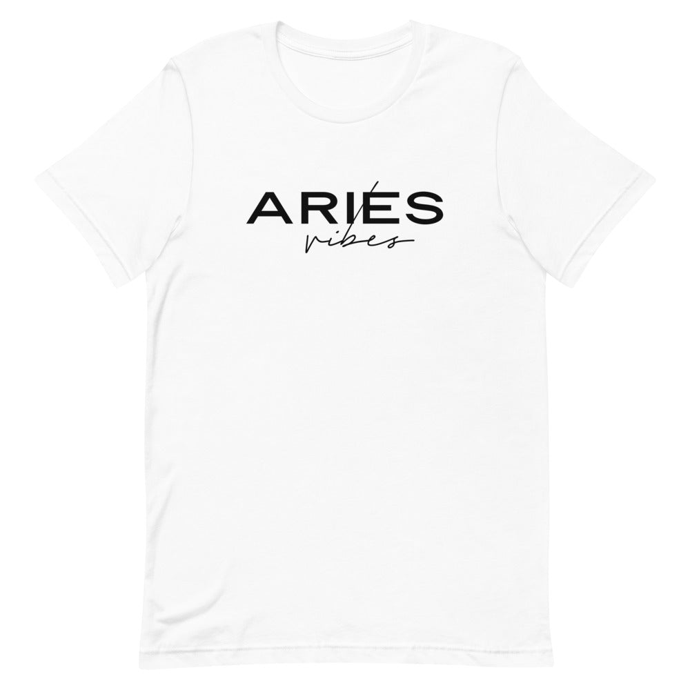 Aries Vibes Zodiac T-Shirt (White) *Ships separately