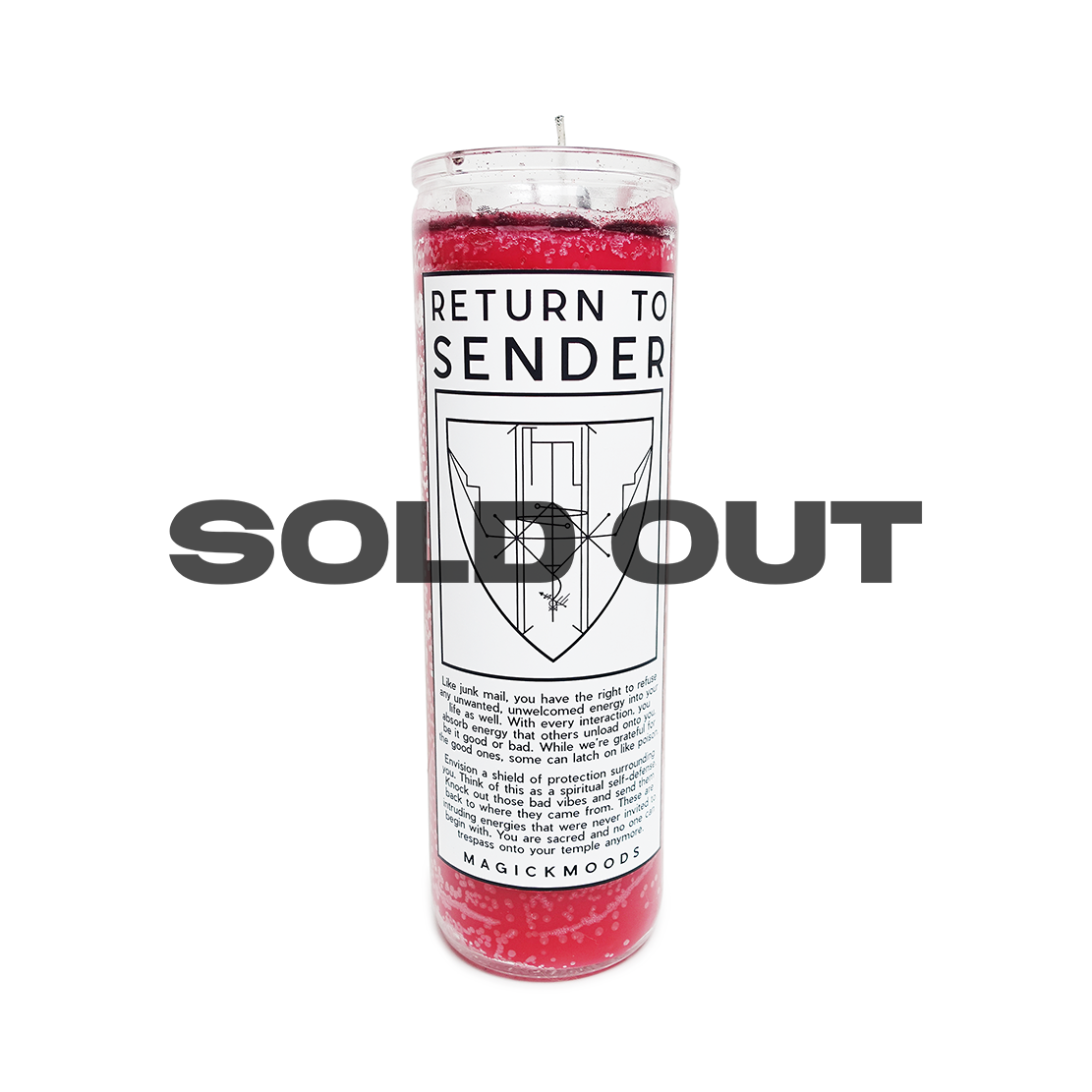 Return To Sender 7-Day Meditation Candle - PREORDER - Ships by 8/14