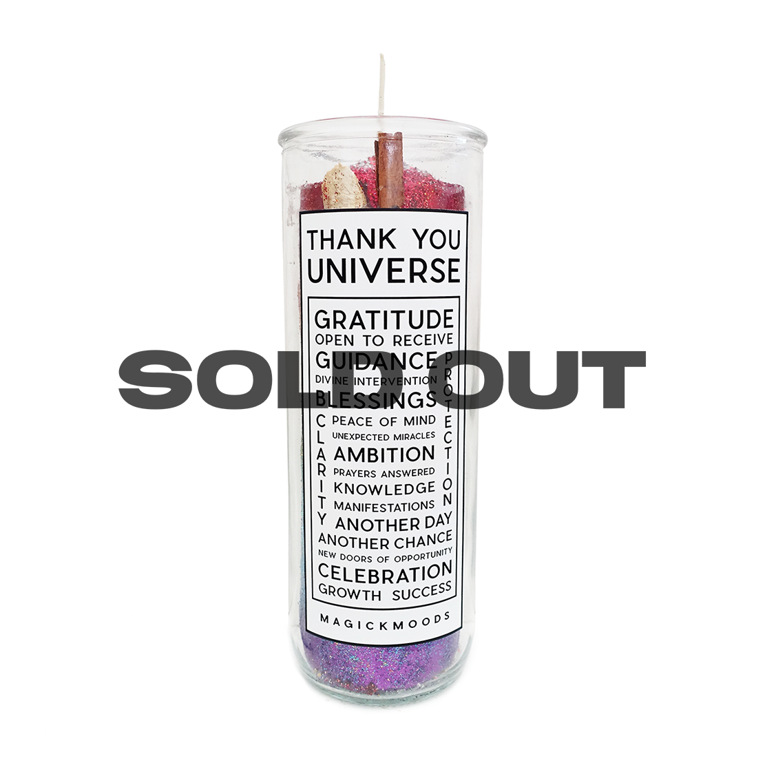 Thank You Universe 7-Day Meditation Candle - PREORDER - Ships by 12/15