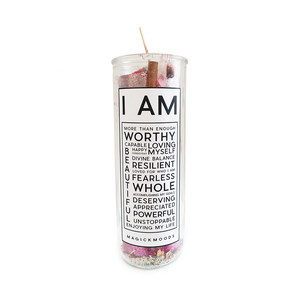 I Am Enough 7-Day Meditation Candle - PREORDER - Ships by 12/17