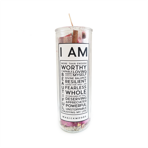 I Am Enough 7-Day Meditation Candle - PREORDER - Ships by 9/3