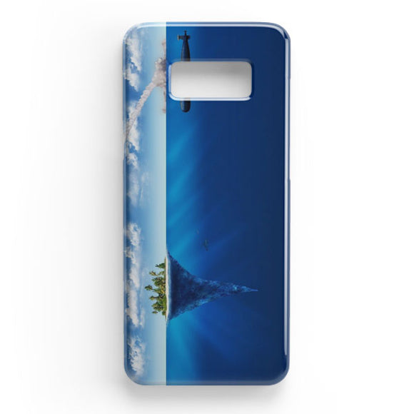 3D Sea Island Abstract Samsung Galaxy S8 Plus Case | Tridicase