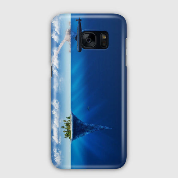 3D Sea Island Abstract Samsung Galaxy S7 Edge Case | Tridicase