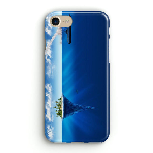 3D Sea Island Abstract iPhone 8 Case | Tridicase