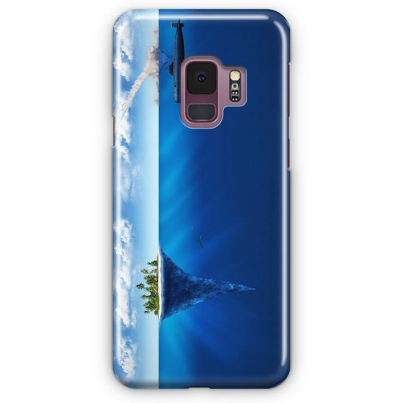 3D Sea Island Abstract Samsung Galaxy S9 Case | Tridicase