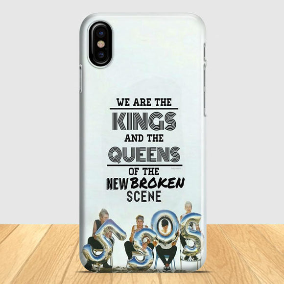5 Sos Kings And Queens iPhone X Case | Tridicase