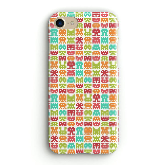 8 Bit Monster Pattern iPhone 7 Case | Tridicase