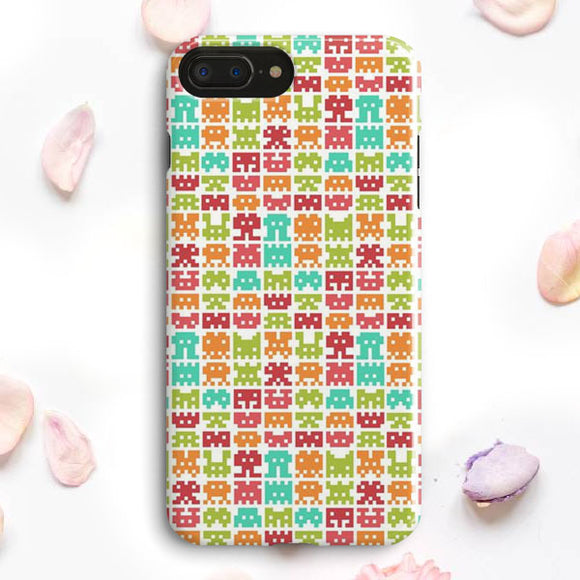 8 Bit Monster Pattern iPhone 7 Plus Case | Tridicase