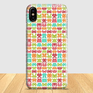 8 Bit Monster Pattern iPhone X Case | Tridicase