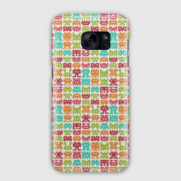 8 Bit Monster Pattern Samsung Galaxy S7 Edge Case | Tridicase