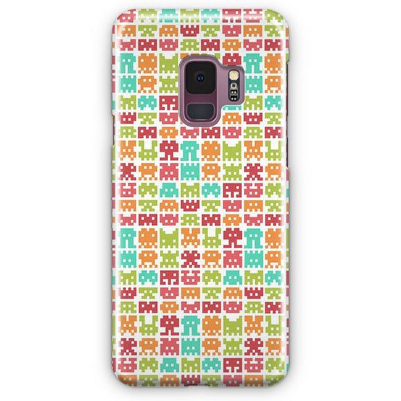 8 Bit Monster Pattern Samsung Galaxy S9 Case | Tridicase