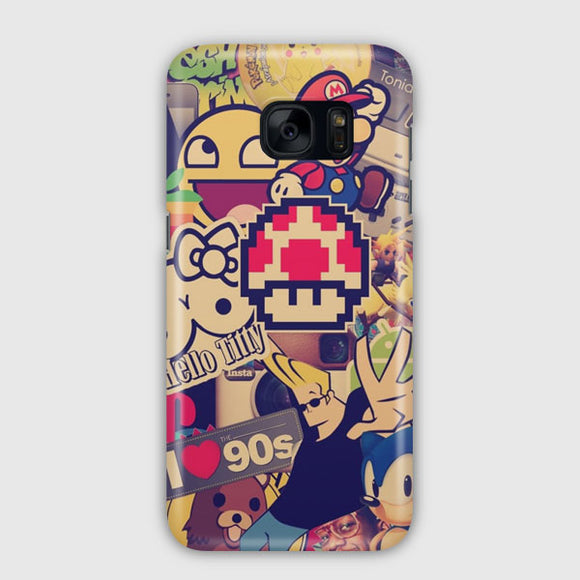 90'S Retro Item Samsung Galaxy S7 Edge Case | Tridicase