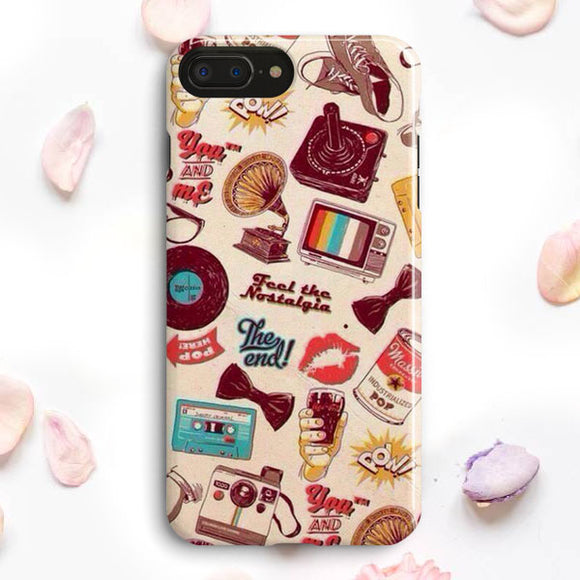 90S Nerd Vintage Compilation iPhone 7 Plus Case | Tridicase