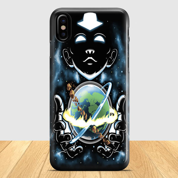 Aang Holding The World iPhone X Case | Tridicase