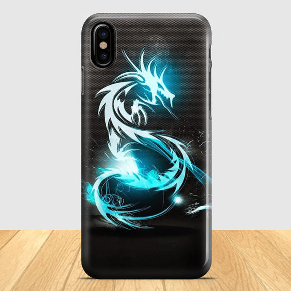 Abstract Blue iPhone X Case | Tridicase