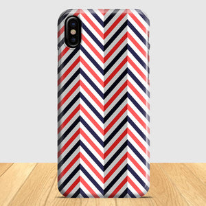 Abstract Chevron Pattern iPhone X Case | Tridicase