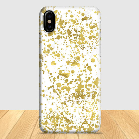 Abstract Gold Glitter iPhone X Case | Tridicase
