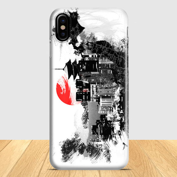 Abstract Kyoto Art iPhone X Case | Tridicase
