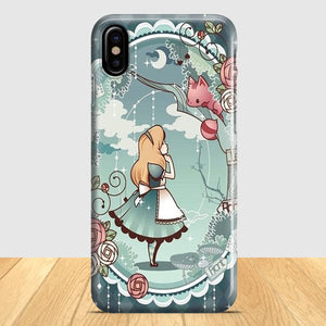 Alice In Wonderland Art Print iPhone X Case | Tridicase