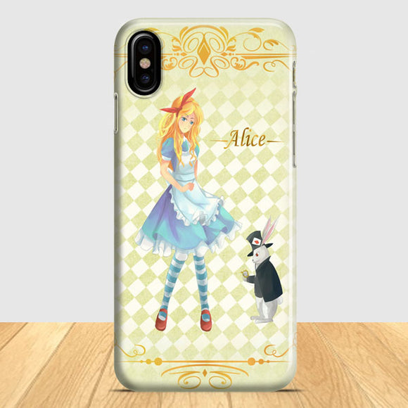 Alice In Wonderland Vintage Poster iPhone X Case | Tridicase
