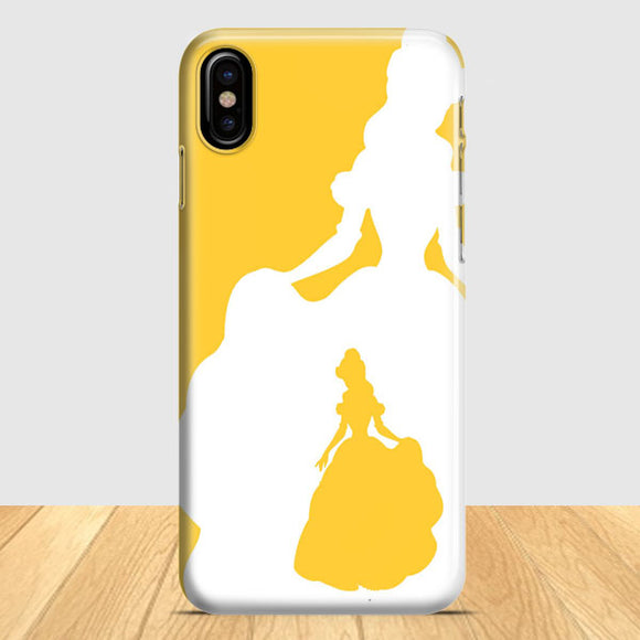 Belle Silhouette iPhone X Case | Tridicase