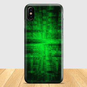 Black And Green Abstract iPhone X Case | Tridicase