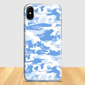 Blue Camo iPhone X Case | Tridicase