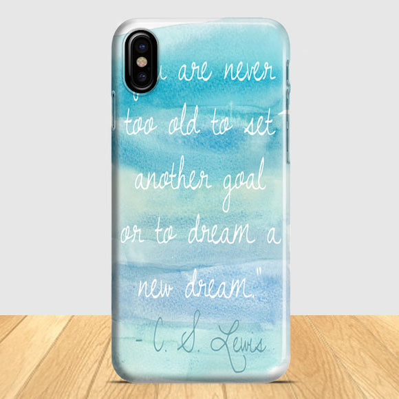 Blue Ombre Quote iPhone X Case | Tridicase
